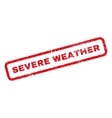 Severe Weather Rubber Stamp vector image