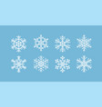 snowflakes collection in flat vector image vector image
