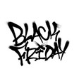 sprayed black friday font graffiti with overspray vector image