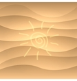 Summer picture on a sea sand vector image vector image