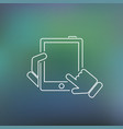 tablet thin icon vector image vector image