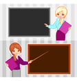 teacher and business woman vector image