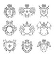 template heraldic emblems different empty vector image