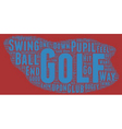 The Golf Bogey Number One text background vector image vector image
