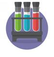 Three test tubes vector image