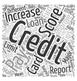 Tips To Increase Your Credit Score text background vector image vector image