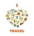travel poster or print - i love design vector image