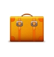 Travel suitcase emblem vector image