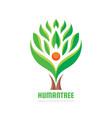tree human character - logo template vector image