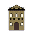 vintage building town or village icon image vector image vector image