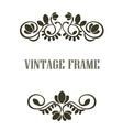 Vintage frame border elements vector image vector image