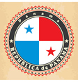 Vintage label cards of Panama flag vector image vector image