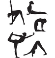 Yoga women icons vector image