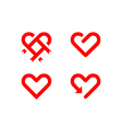 Heart line symbol vector image