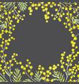 watercolor mimosa frame vector image