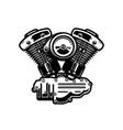 motorcycle engine on white background vector image