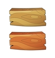 2d wooden ui elements vector image