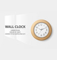 3d realistic simple round wooden wall vector image