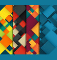 abstract background set with colorful squares vector image vector image