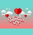 abstract paper origami valentines greeting card vector image