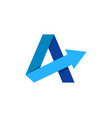arrow letter a logo icon design vector image