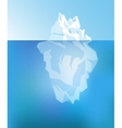 Background with Iceberg vector image
