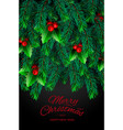 background with realistic looking christmas tree vector image vector image