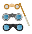 binoculars optical equipment spyglass vector image
