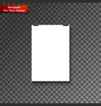 blank paper frame on wall vector image