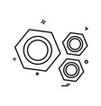 bolt nut icon vector image vector image