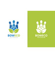 bowling and leaf logo combination game and vector image vector image