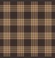 brown beige tartan plaid seamless pattern vector image vector image