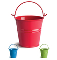 Bucket set vector image vector image