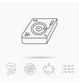 Club music icon DJ track mixer sign vector image vector image