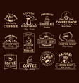 coffee cup label set for cafe and shop design vector image vector image