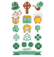 color icon set for st patricks day vector image vector image
