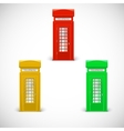 colored telephone booths londone style