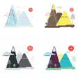 Colorful set of flat landscape Nature mountains vector image