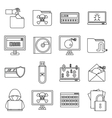 Criminal activity icons set outline style vector image vector image