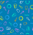 disposable utensils seamless pattern vector image vector image