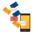 electronic mail marketing icon vector image vector image