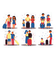 family character travelling on vacation isolated vector image