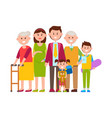 family together big poster vector image vector image