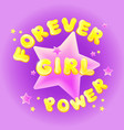 girl power birthday greeting card vector image