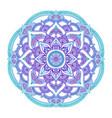 gradient mandala circle ethnic ornament hand vector image vector image