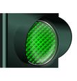 green traffic light vector image vector image