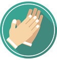 hand applause icon vector image vector image