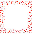 hearts borders isolated vector image vector image