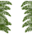 hello summer green palm leaf vector image vector image