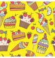 ice cream and cake vector image vector image